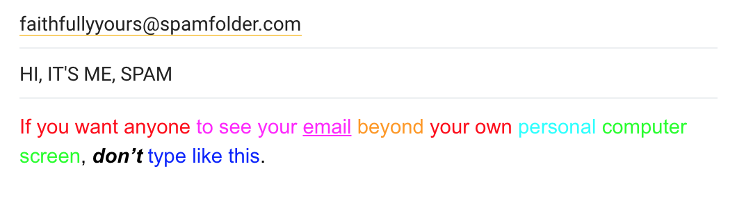 Spam Email Example